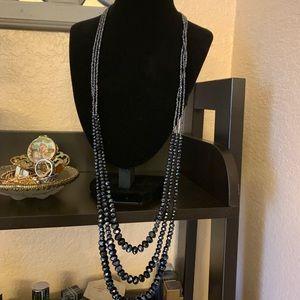 Sparkles slate beaded necklace.